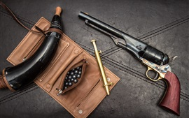 Preview wallpaper 1860 revolver, horn