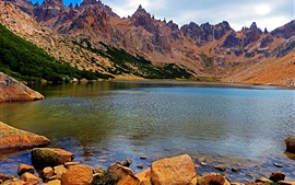 Preview wallpaper Argentina, Patagonia, rock mountains, lake