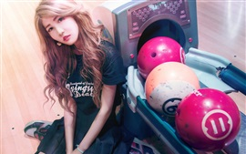 Preview wallpaper Asian girl, sport, bowling