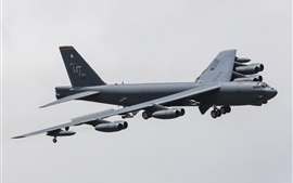 Boeing B-52H strategic heavy bomber flight