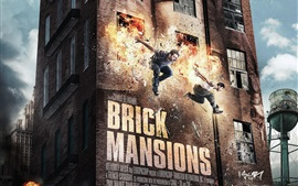 Aperçu fond d'écran Brique Mansions, David Belle, Paul Walker
