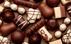 Chocolate candy, sweets, food