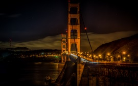 Preview wallpaper City night, lights, bridge, Golden gate, San Francisco, USA