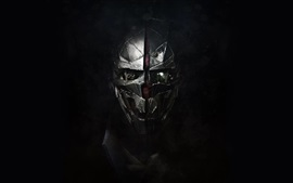 Preview wallpaper Dishonored 2, mask, black background
