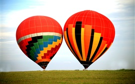 Preview wallpaper Extreme sports, hot air balloons, sky