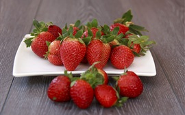 Preview wallpaper Fresh strawberry, ripe fruit