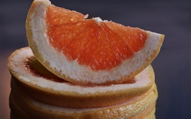 Preview wallpaper Grapefruit slice, citrus, fruit close-up