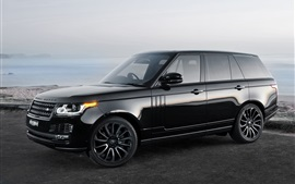 Preview wallpaper Land Rover Range Rover black car side view