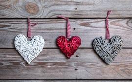 Aperçu fond d'écran Amour coeurs, art, romantique