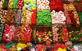 Preview wallpaper Many kinds of candy, colorful, shop