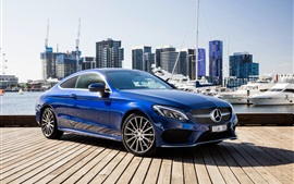 Preview wallpaper Mercedes-Benz AMG C-Class C205 blue Coupe