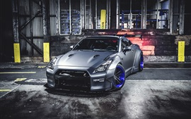 Nissan GT-R car front view