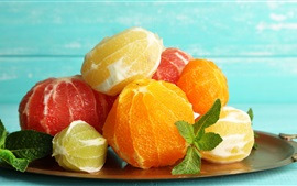 Preview wallpaper Peeled fruit, citrus, oranges