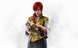 Preview wallpaper Red hair girl, The Witcher 3: Wild Hunt