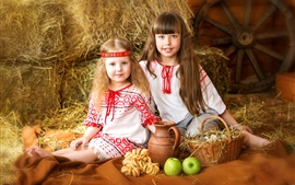 Preview wallpaper Two lovely little girls, child