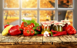 Preview wallpaper Vegetables photography, tomatoes, peppers, cucumbers