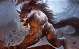 Preview wallpaper Werewolf, teeth, art pictures