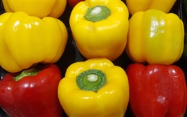Yellow and red sweet pepper