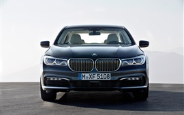 BMW 730D car front view