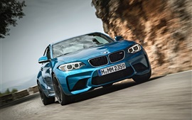Preview wallpaper BMW M2 F87 blur car front view