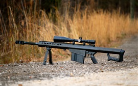 Preview wallpaper Barrett M82 self-loading sniper rifle, weapon