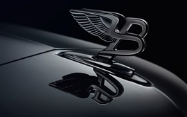Bentley logotipo, fundo preto