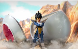 Preview wallpaper Dragon Ball Z, Super Saiyan, 3D anime