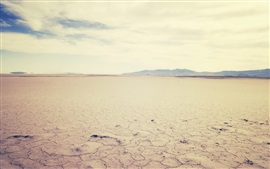 Dry ground, desert, clouds, hot