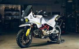 Preview wallpaper Ducati Hypermotard white motorcycle 2017