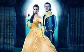 Preview wallpaper Emma Watson, Dan Stevens, Beauty and the Beast