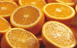 Fruit, oranges, sliced