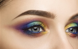 Girl eyes, makeup, colors