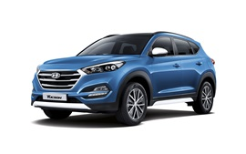 Preview wallpaper Hyundai Tucson blue SUV car