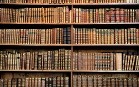 Preview wallpaper Library, bookshelf, books