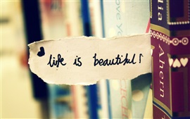 Preview wallpaper Life is beautiful, paper