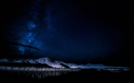 Preview wallpaper Nebraska, USA, mountains, night, stars