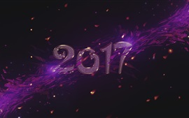 Preview wallpaper New Year 2017, purple style