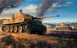 Preview wallpaper North Africa, tanks