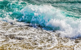 Preview wallpaper Ocean, coast, sea waves, splash, foam