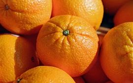 Aperçu fond d'écran Oranges, gros plan de fruits
