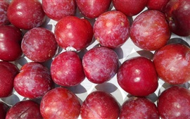 Red plums, fruit photography