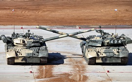 Preview wallpaper Russian T-80 tanks