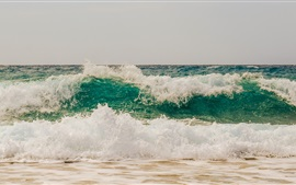 Preview wallpaper Sea waves, foam, coast, water