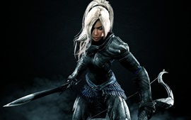 The Elder Scrolls V: Skyrim, guerrero, chica, espada, arco