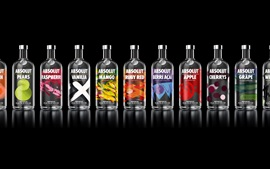 Preview wallpaper Absolut Vodka many variety taste