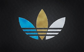 Preview wallpaper Adidas logo, black background