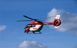 Preview wallpaper Ambulance helicopter, flight, sky