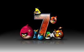Preview wallpaper Angry Birds, Windows 7