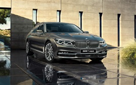 Preview wallpaper BMW 7 Series G12 grey car front view