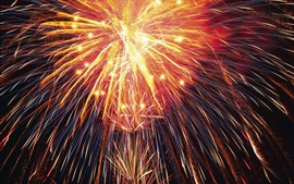 Preview wallpaper Beautiful fireworks, shine light lines